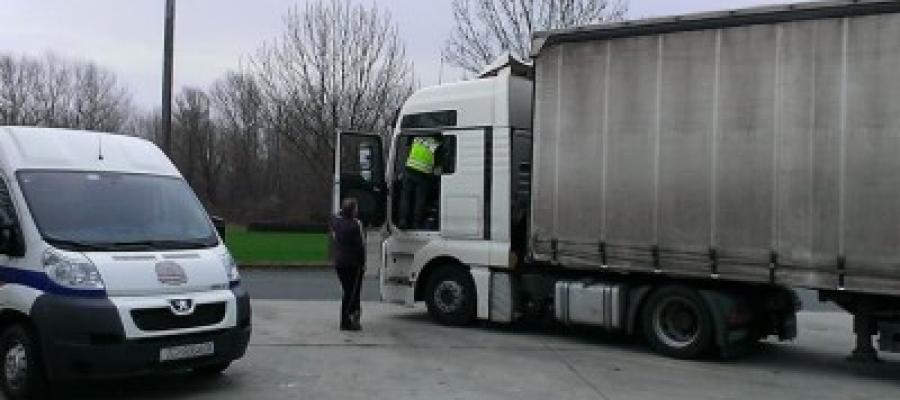 Akcija nadzora prijevoza tereta na autocesti A2 – PUO Crodux (HR)