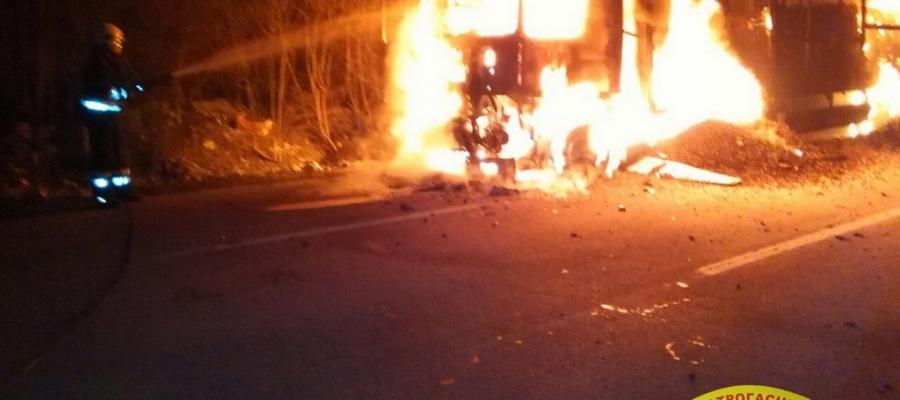 Izgorio kamion kod Trebinja