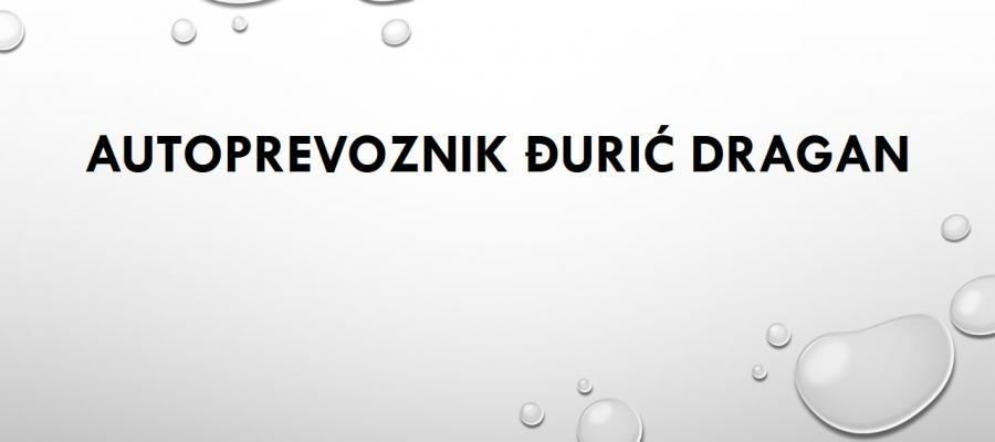 Autoprevoznik Đurić Dragan